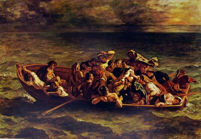 Eugène Delacroix: Il naufragio di don Giovanni